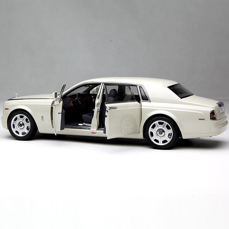 京商1:18 劳斯莱斯幻影加长四门版 合金仿真静态汽车模型 卡拉拉白色